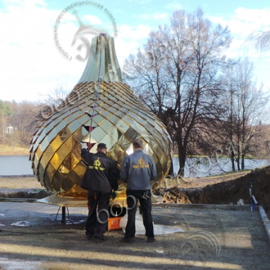 Изготовление купола и креста на часовню во имя преподобного Сергия игумена Радонежского