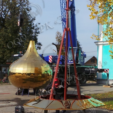Изготовление Центрального купола с крестом для Свято-Троицкого храма