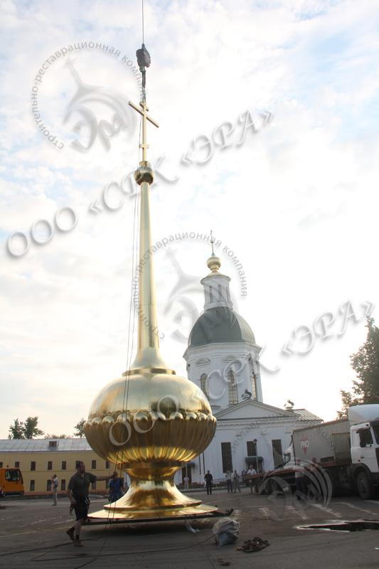 Изготовление нового завершения колокольни Свято-Успенского мужского монастыря